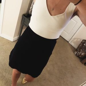 J.Crew Size 2 Navy and White Dress